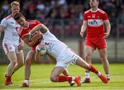12 May 2019; Ronan McNamee of Tyrone in action against Shane McGuigan of Derry during the Ulster GAA Football Senior Championship preliminary round match between Tyrone and Derry at Healy Park, Omagh in Tyrone. Photo by Oliver McVeigh/Sportsfile