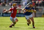 12 May 2019; Jason Forde of Tipperary in action against Niall O' Leary of Cork during the Munster GAA Hurling Senior Championship Round 1 match between Cork and Tipperary at Pairc Ui Chaoimh in Cork. Photo by Diarmuid Greene/Sportsfile
