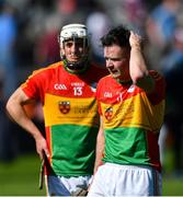 12 May 2019; Carlow players Martin Kavanagh, right, and James Doyle dejected after the Leinster GAA Hurling Senior Championship Round 1 match between Galway and Carlow at Pearse Stadium in Galway. Photo by Piaras Ó Mídheach/Sportsfile