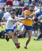 12 May 2019; Shane Golden of Clare in action against Conor Gleeson of Waterford during the Munster GAA Hurling Senior Championship Round 1 match between Waterford and Clare at Walsh Park in Waterford.  Photo by Daire Brennan/Sportsfile