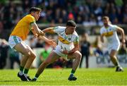 12 May 2019; Ruairí McNamee of Offaly in action against Séamus Lavin of Meath during the Leinster GAA Football Senior Championship Round 1 match between Meath and Offaly at Páirc Tailteann, Navan in Meath. Photo by Brendan Moran/Sportsfile