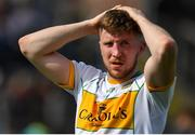 12 May 2019; A dejected Cian Donohoe of Offaly following the Leinster GAA Football Senior Championship Round 1 match between Meath and Offaly at Páirc Tailteann, Navan in Meath. Photo by Brendan Moran/Sportsfile