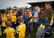 12 May 2019; Conor Cox of Roscommon poses for a photograph with a young supporters following the Connacht GAA Football Senior Championship Quarter-Final match between Roscommon and Leitrim at Dr Hyde Park in Roscommon. Photo by Seb Daly/Sportsfile