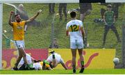 12 May 2019; Michael Newman of Meath celebrates as team-mate Bryan McMahon scores his side's first goal during the Leinster GAA Football Senior Championship Round 1 match between Meath and Offaly at Páirc Tailteann, Navan in Meath. Photo by Brendan Moran/Sportsfile