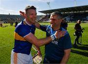 12 May 2019; Tipperary manager Liam Sheedy celebrates with Padraic Maher after the Munster GAA Hurling Senior Championship Round 1 match between Cork and Tipperary at Pairc Ui Chaoimh in Cork. Photo by Diarmuid Greene/Sportsfile