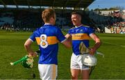 12 May 2019; Noel McGrath and Padraic Maher of Tipperary celebrates after the Munster GAA Hurling Senior Championship Round 1 match between Cork and Tipperary at Pairc Ui Chaoimh in Cork. Photo by Diarmuid Greene/Sportsfile
