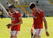 12 May 2019; Darragh Fitzgibbon, left, and Tim O' Mahony of Cork after the Munster GAA Hurling Senior Championship Round 1 match between Cork and Tipperary at Pairc Ui Chaoimh in Cork. Photo by Diarmuid Greene/Sportsfile