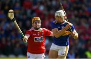 12 May 2019; Niall O'Meara of Tipperary in action against Niall O' Leary of Cork during the Munster GAA Hurling Senior Championship Round 1 match between Cork and Tipperary at Pairc Ui Chaoimh in Cork. Photo by Diarmuid Greene/Sportsfile