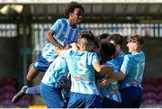 12 May 2019; Salthill Devon players celebrate Sean Flaherty's goal during the U16 SFAI Cup Final 2019 match between Midleton FC and Salthill Devon at Turners Cross in Cork. Photo by Michael P. Ryan/Sportsfile