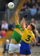 12 May 2019; Sean Mullooly of Roscommon in action against Shane Moran of Leitrim during the Connacht GAA Football Senior Championship Quarter-Final match between Roscommon and Leitrim at Dr Hyde Park in Roscommon. Photo by Seb Daly/Sportsfile