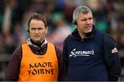 5 May 2019; Galway manager Kevin Walsh, right, and Galway Selector Brian Silke during the Connacht GAA Football Senior Championship Quarter-Final match between London and Galway at McGovern Park in Ruislip, London, England. Photo by Harry Murphy/Sportsfile