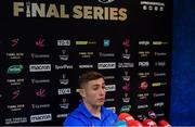 13 May 2019; Jordan Larmour during a Leinster Rugby Press Conference at Leinster Rugby Headquarters in UCD, Dublin. Photo by Piaras Ó Mídheach/Sportsfile