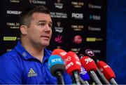 13 May 2019; Scrum coach John Fogarty during a Leinster Rugby Press Conference at Leinster Rugby Headquarters in UCD, Dublin. Photo by Piaras Ó Mídheach/Sportsfile
