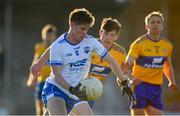 11 May 2019; Conor Murray of Waterford in action against Aaron Fitzgerald of Clare during the Munster GAA Football Senior Championship quarter-final match between Clare v Waterford at Cusack Park in Ennis, Clare. Photo by Sam Barnes/Sportsfile