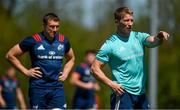 13 May 2019; Forwards coach Jerry Flannery, right, with Tommy O'Donnell during Munster Rugby Squad Training at the University of Limerick in Limerick. Photo by Brendan Moran/Sportsfile