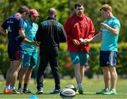 13 May 2019; The Munster coaching staff, from left, head coach Johann van Graan, defence coach JP Ferreira, head of athletic performance Denis Logan, backs and attack coach Felix Jones and forwards coach Jerry Flannery during Munster Rugby Squad Training at the University of Limerick in Limerick. Photo by Brendan Moran/Sportsfile