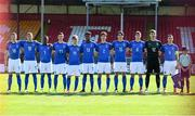 13 May 2019; The Italy team prior to the 2019 UEFA European Under-17 Championships quarter-final match between Italy and Portugal at Tolka Park in Dublin. Photo by Stephen McCarthy/Sportsfile