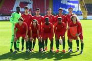 13 May 2019; The Portugal team prior to the 2019 UEFA European Under-17 Championships quarter-final match between Italy and Portugal at Tolka Park in Dublin. Photo by Stephen McCarthy/Sportsfile