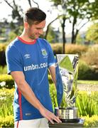 13 May 2019; Andy Waterworth of Linfield F.C. at the Unite the Union Champions Cup Launch in the Grand Hotel in Malahide, Dublin. Photo by Ray McManus/Sportsfile