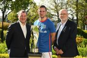 13 May 2019; Patrick Nelson, left, Chief Executive, Irish FA, Andy Waterworth of Linfield F.C. and Fran Gavin, FAI Director of Competitions, at the Unite the Union Champions Cup Launch in the Grand Hotel in Malahide, Dublin. Photo by Ray McManus/Sportsfile