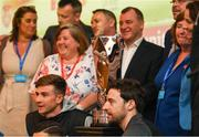 13 May 2019; Players, FAI, IFA and Unite the Union officials are pictured at the Unite the Union Champions Cup Launch in the Grand Hotel in Malahide, Dublin. Photo by Ray McManus/Sportsfile