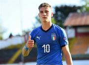 13 May 2019; Sebastiano Esposito of Italy following the 2019 UEFA European Under-17 Championships Quarter-Final match between Italy and Portugal at Tolka Park in Dublin. Photo by Stephen McCarthy/Sportsfile