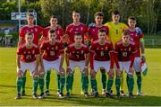 13 May 2019; The Hungary team prior to the 2019 UEFA European Under-17 Championships Quarter-Final match between Hungary and Spain at UCD Bowl in Dublin. Photo by Ben McShane/Sportsfile