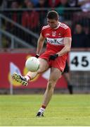 12 May 2019; Ciaran McFaul of Derry during the Ulster GAA Football Senior Championship preliminary round match betweenTyrone and Derry at Healy Park, Omagh in Tyrone. Photo by Oliver McVeigh/Sportsfile