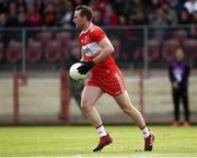 12 May 2019; Liam McGoldrick of Derry during the Ulster GAA Football Senior Championship preliminary round match betweenTyrone and Derry at Healy Park, Omagh in Tyrone. Photo by Oliver McVeigh/Sportsfile