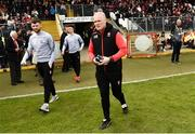 12 May 2019; Derry Manager Damien McErlain before the Ulster GAA Football Senior Championship preliminary round match betweenTyrone and Derry at Healy Park, Omagh in Tyrone. Photo by Oliver McVeigh/Sportsfile