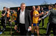 12 May 2019; The Clare County Board Chairman Cllr Joe Cooney, centre, after the Munster GAA Hurling Senior Championship Round 1 match between Waterford and Clare at Walsh Park in Waterford. Photo by Ray McManus/Sportsfile