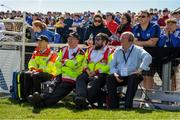 12 May 2019; Waterford County Board Treasurer John Jackson, right, sits with members of the Order of Malta during he Munster GAA Hurling Senior Championship Round 1 match between Waterford and Clare at Walsh Park in Waterford. Photo by Ray McManus/Sportsfile