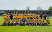 12 May 2019; The Clare squad before the Munster GAA Hurling Senior Championship Round 1 match between Waterford and Clare at Walsh Park in Waterford. Photo by Ray McManus/Sportsfile