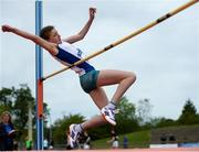 15 May 2019; Laura Kelly of Ratoath College, Meath, competing in the Minor Girls High Jump event during the Irish Life Health Leinster Schools Track and Field Championships Day 1 at Morton Stadium in Santry, Dublin. Photo by Eóin Noonan/Sportsfile