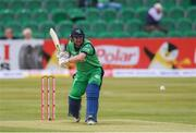 15 May 2019; Paul Stirling of Ireland plays a shot during the One Day International match between Ireland and Bangladesh at Clontarf Cricket Club, Clontarf in Dublin. Photo by Piaras Ó Mídheach/Sportsfile