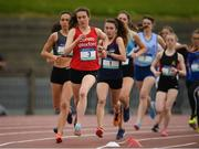 15 May 2019; Roisin O'Reilly of Loreto, Wexford, competing in the Senior Girls 1,500m Steeplechase during the Irish Life Health Leinster Schools Track and Field Championships Day 1 at Morton Stadium in Santry, Dublin. Photo by Eóin Noonan/Sportsfile