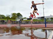 15 May 2019; Roisin Treacy of Institute of Education, Dublin, competing in the Senior Girls 1,500m Steeplechase during the Irish Life Health Leinster Schools Track and Field Championships Day 1 at Morton Stadium in Santry, Dublin. Photo by Eóin Noonan/Sportsfile