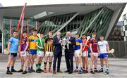 15 May 2019; Uachtarán Chumann Lúthchleas Gael John Horan and Colin Bebbington, Retail Director of BGE, centre, with players, from left, David Keogh of Dublin, Charlie McGuckin of Wexford, Diarmuid Ryan of Clare, Ronan Connolly of Limerick, Adrian Mullen of Kilkenny, Paddy Cadell of Tipperary, Brian Turnbull of Cork, Darren Morrissey of Galway and Billy Power of Waterford at the launch of the 2019 Bord Gáis Energy GAA Hurling All-Ireland U-20 Championship. Entering its 11th year as title sponsor of the competition, Bord Gáis Energy has shown its continued commitment to shining a light on the rising stars of the game by announcing an all new line-up of U-20 ambassadors for the forthcoming season. The competition begins on May 25th with the first round of the Leinster Championship where Carlow meet Antrim. Photo by David Fitzgerald/Sportsfile