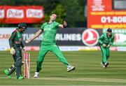 15 May 2019; Boyd Rankin of Ireland bowls a delivery during the One Day International match between Ireland and Bangladesh at Clontarf Cricket Club, Clontarf in Dublin. Photo by Piaras Ó Mídheach/Sportsfile