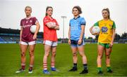 16 May 2019; Ladies footballers, from left, Megan Glynn of Galway, Eimear Scally of Cork, Niamh Collins of Dublin and Niamh Carr of Donegal were in Parnell Park today to launch AIG's new #EffortIsEqual campaign. #EffortIsEqual recognises that the effort, commitment and dedication amongst male and female players is equal. AIG also announced their new sponsorship which will see AIG become the Official Insurance Partner of the Ladies Gaelic Football Association. Follow AIG Ireland on social & on www.aig.ie to learn more about #EffortIsEqual. Photo by David Fitzgerald/Sportsfile