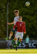13 May 2019; Aitor Gelardo Vegara of Spain in action against Mihály Kata of Hungary during the 2019 UEFA European Under-17 Championships Quarter-Final match between Hungary and Spain at UCD Bowl in Dublin. Photo by Ben McShane/Sportsfile