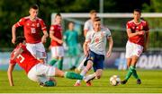 13 May 2019; Beñat Turrientes Imaz of Spain in action against Botond Balogh of Hungary during the 2019 UEFA European Under-17 Championships Quarter-Final match between Hungary and Spain at UCD Bowl in Dublin. Photo by Ben McShane/Sportsfile