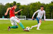 13 May 2019; Gábor Buna of Hungary in action against Javier López Carballo of Spain during the 2019 UEFA European Under-17 Championships Quarter-Final match between Hungary and Spain at UCD Bowl in Dublin. Photo by Ben McShane/Sportsfile