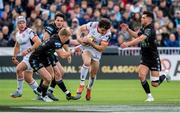 17 May 2019; Jacob Stockdale of Ulster is tackled by Kyle Steyn (L) and Adam Hasting during the Guinness PRO14 Semi-Final match between Glasgow Warriors and Ulster at Scotstoun Stadium in Glasgow, Scotland. Photo by Ross Parker/Sportsfile