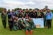 15 May 2019; Bangladesh players celebrate with the Tri-Series Trophy following the One-Day International Tri-Series Final match between West Indies and Bangladesh at Malahide Cricket Ground, Malahide, Dublin. Photo by Sam Barnes/Sportsfile
