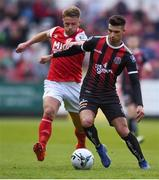17 May 2019; Daniel Mandroiu of Bohemians in action against Conor Clifford of St Patrick's Athletic during the SSE Airtricity League Premier Division match between St Patrick's Athletic and Bohemians  at Richmond Park in Dublin. Photo by Ben McShane/Sportsfile