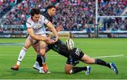 17 May 2019; Jacob Stockdale of Ulster is tackled by Kyle Steyn of Glasgow during the Guinness PRO14 Semi-Final match between Glasgow Warriors and Ulster at Scotstoun Stadium in Glasgow, Scotland. Photo by Ross Parker/Sportsfile