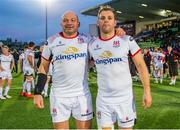 17 May 2019; Rory Best, left, and Darren Cave of Ulster following the Guinness PRO14 Semi-Final match between Glasgow Warriors and Ulster at Scotstoun Stadium in Glasgow, Scotland. Photo by Ross Parker/Sportsfile