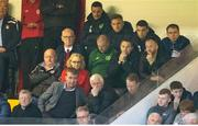17 May 2019; Republic of Ireland international Seamus Coleman, top row, second from right, and Republic of Ireland Under-21 manager Stephen Kenny, bottom row, centre, in attendance during the SSE Airtricity League Premier Division match between St Patrick's Athletic and Bohemians  at Richmond Park in Dublin. Photo by Ben McShane/Sportsfile