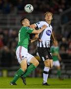 17 May 2019; Georgie Kelly of Dundalk in action against Conor McCarthy of Cork City during the SSE Airtricity League Premier Division match between Cork City and Dundalk at Turners Cross in Cork. Photo by Eóin Noonan/Sportsfile